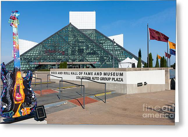 Rock And Roll Hall Of Fame IIi Greeting Card by Clarence Holmes