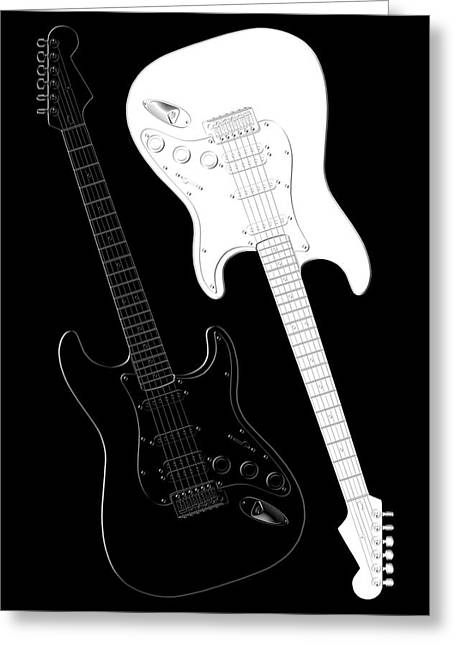 Instrument Mixed Media Greeting Cards - Rock and Roll Yin Yang Greeting Card by Mike McGlothlen