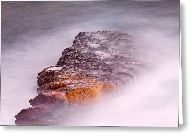 Lily Greeting Cards - Rock and Wave Greeting Card by Lily