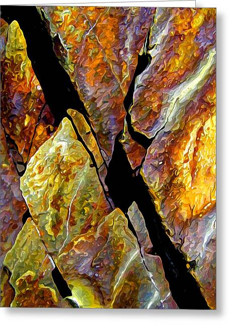 Warm Tones Greeting Cards - Rock Art 17 Greeting Card by Bill Caldwell -        ABeautifulSky Photography