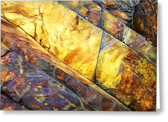 Warm Tones Greeting Cards - Rock Art 23 Greeting Card by Bill Caldwell -        ABeautifulSky Photography