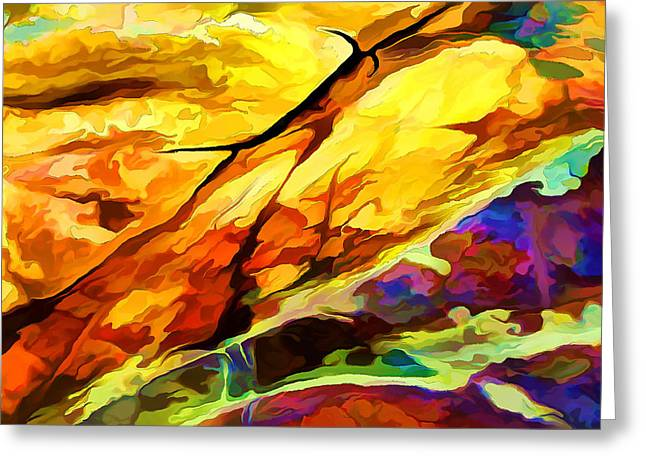 Warm Tones Greeting Cards - Rock Art 24 Detail Greeting Card by Bill Caldwell -        ABeautifulSky Photography