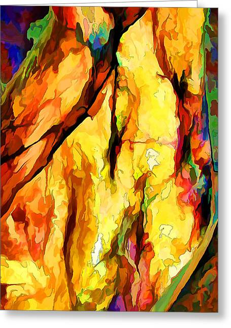 Warm Tones Greeting Cards - Rock Art 25 Greeting Card by Bill Caldwell -        ABeautifulSky Photography