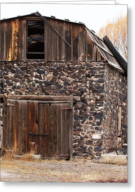 Ron Roberts Photography Photographs Greeting Cards - Rock Barn Greeting Card by Ron Roberts