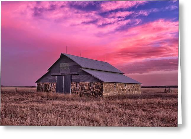 Rock Barn Greeting Card by Thomas Zimmerman