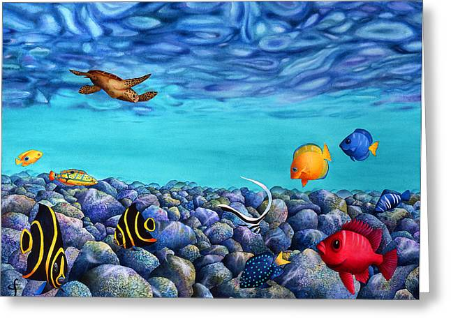Exotic Fish Greeting Cards - Rock Beauties Greeting Card by Carolyn Steele