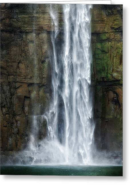 Taughannock Falls State Park Greeting Cards - Rock Bottom Greeting Card by Bill  Wakeley