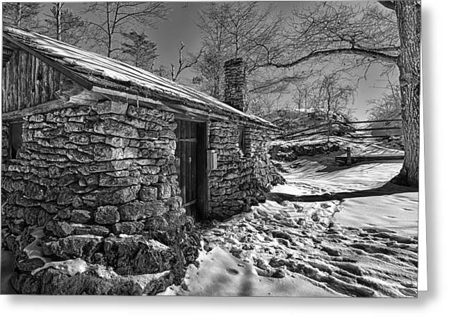 Wisconsin State Parks Greeting Cards - Rock Cabin Greeting Card by Jeffrey Ewig