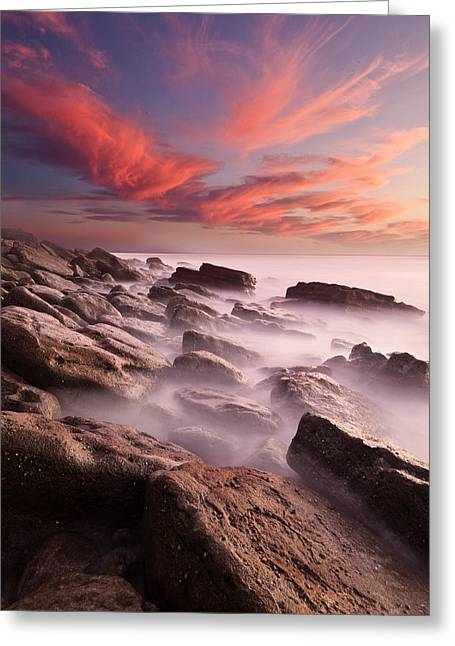 Ocean Moods Greeting Cards - Rock caos Greeting Card by Jorge Maia