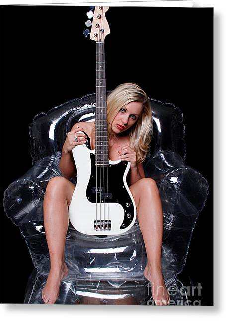 Playmate Greeting Cards - Rock Chic Greeting Card by Jt PhotoDesign