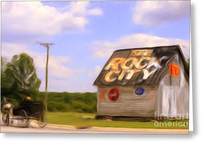Tennessee Barn Digital Art Greeting Cards - Rock City Barn #5 in series Greeting Card by Lisa James