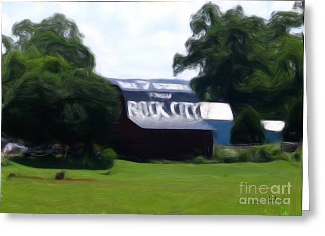 Tennessee Barn Digital Art Greeting Cards - Rock City Barns #1 in series Greeting Card by Lisa James