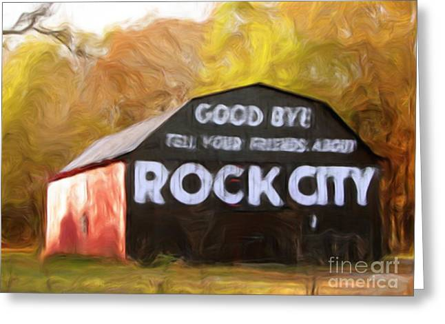 Tennessee Barn Digital Art Greeting Cards - Rock City Barns #2 in series Greeting Card by Lisa James