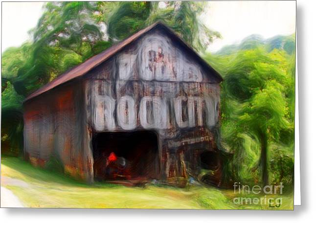 Tennessee Barn Digital Art Greeting Cards - Rock City Barns #23 in series Greeting Card by Lisa James