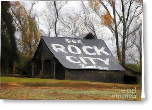 Tennessee Barn Digital Art Greeting Cards - Rock City Barns #25 in series Greeting Card by Lisa James