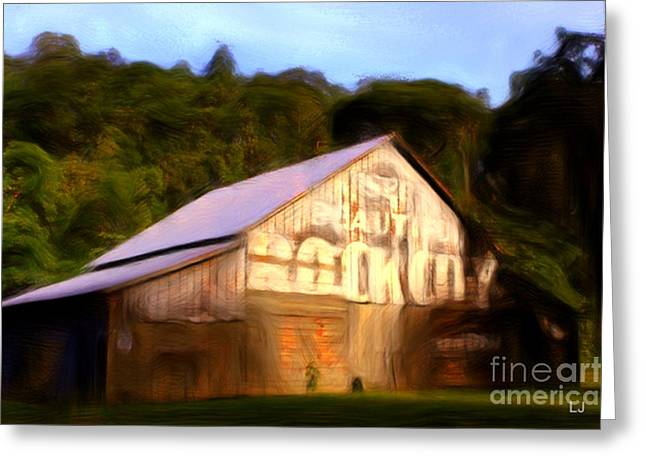 Tennessee Barn Digital Art Greeting Cards - Rock City Barns #27 in series Greeting Card by Lisa James