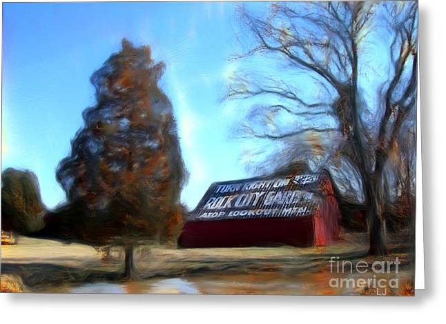Tennessee Barn Digital Art Greeting Cards - Rock City Barns #28 in series Greeting Card by Lisa James