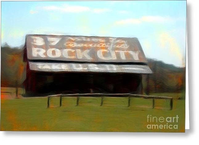 Tennessee Barn Digital Art Greeting Cards - Rock City Barns#30 in series Greeting Card by Lisa James