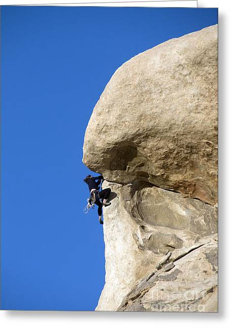 Californian Greeting Cards - Rock Climber, Joshua Tree Np Greeting Card by Mark Newman