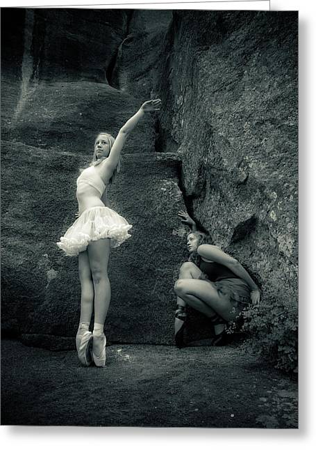 Ballet Dancers Photographs Greeting Cards - Rock Dancing Greeting Card by Scott Sawyer