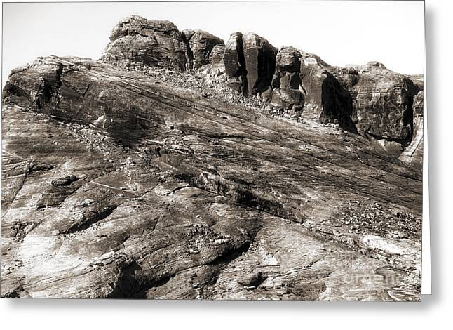 Brown Tones Greeting Cards - Rock Details Greeting Card by John Rizzuto