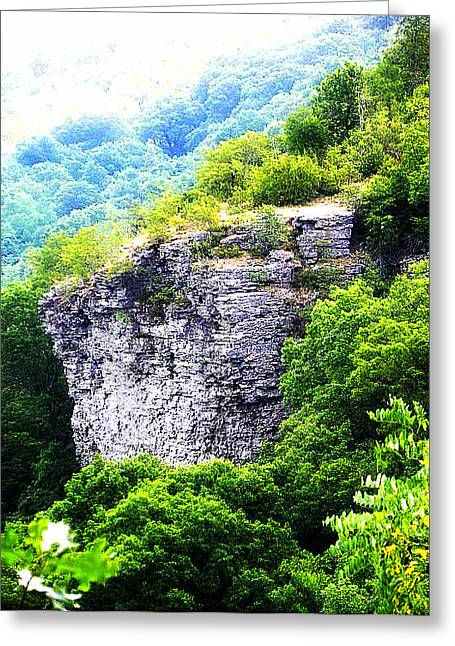 Arkansas Greeting Cards - Rock Face  Greeting Card by Lisa Wooten