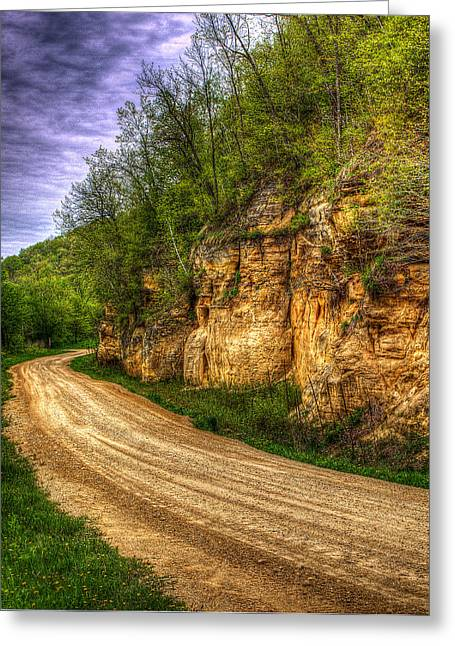 Gravel Road Greeting Cards - Rock Faces Greeting Card by Thomas Young