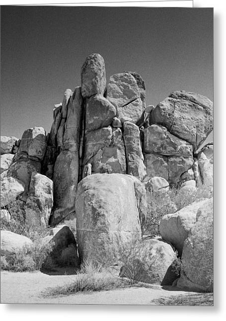 Square Format Greeting Cards - Rock Formation Greeting Card by Alex Snay