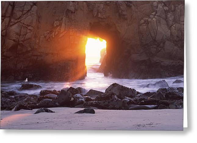 Pfeiffer Beach Greeting Cards - Rock Formation On The Beach, Pfeiffer Greeting Card by Panoramic Images