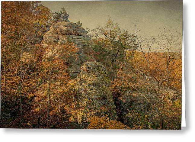 Rock Formation Greeting Card by Sandy Keeton