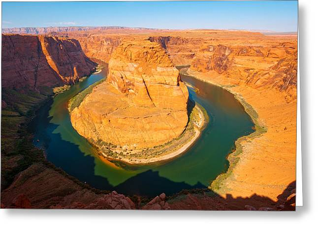 Famous State Parks Greeting Cards - Rock Formations At Goosenecks State Greeting Card by Panoramic Images