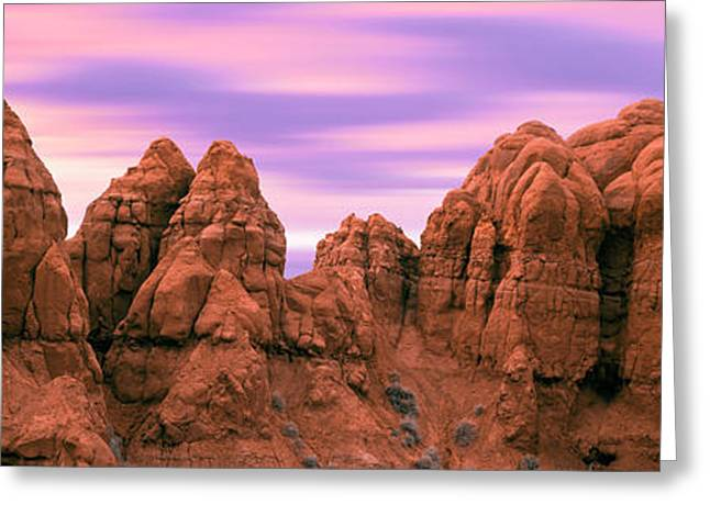 Rock Formations At Sunrise, Kodachrome Greeting Card by Panoramic Images