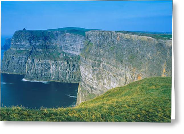 Cliffs Of Moher Greeting Cards - Rock Formations At The Coast, Cliffs Of Greeting Card by Panoramic Images