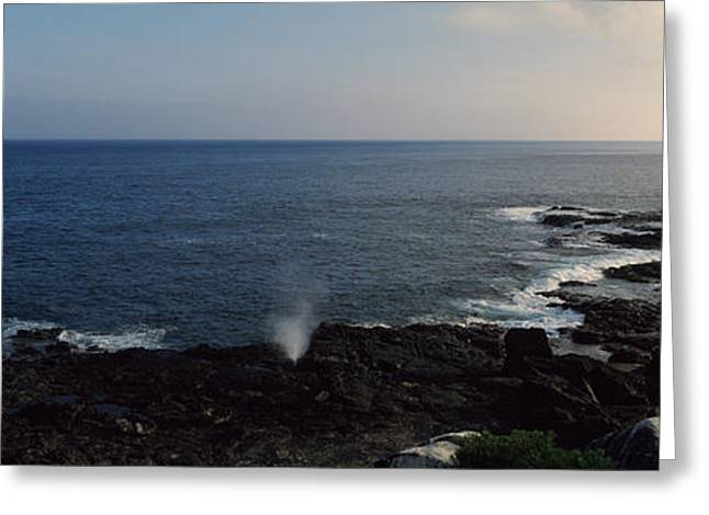Cliffs Over Ocean Greeting Cards - Rock Formations At The Coast, Punta Greeting Card by Panoramic Images