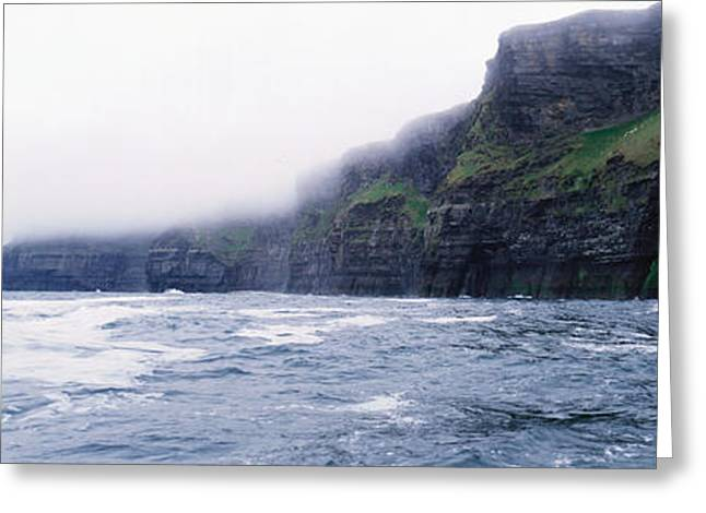 Clare Greeting Cards - Rock Formations At The Waterfront Greeting Card by Panoramic Images