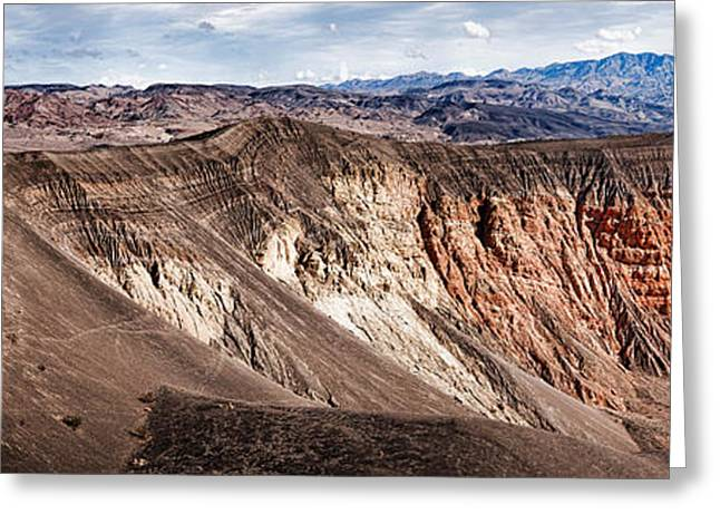 Craters Greeting Cards - Rock Formations At Volcanic Crater Greeting Card by Panoramic Images