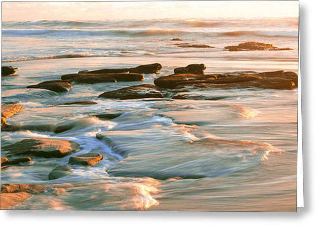 California Ocean Photography Greeting Cards - Rock Formations At Windansea Beach, La Greeting Card by Panoramic Images