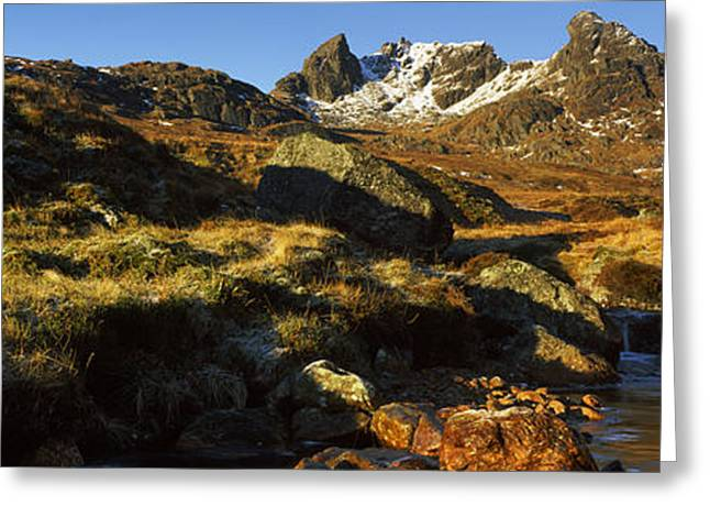 Bute Greeting Cards - Rock Formations, Beinn Arthur Greeting Card by Panoramic Images