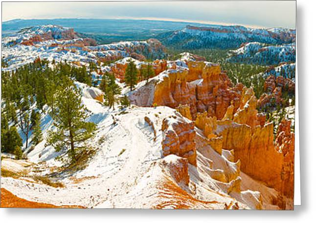 Fish Eye Lens Greeting Cards - Rock Formations In A Canyon, Bryce Greeting Card by Panoramic Images