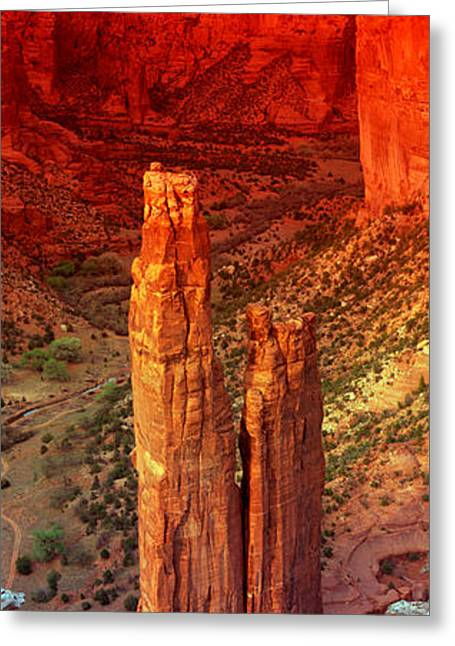 Geology Photographs Greeting Cards - Rock Formations In A Desert, Spider Greeting Card by Panoramic Images