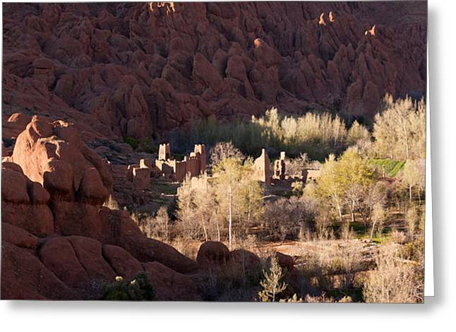 Kasbah Greeting Cards - Rock Formations In The Dades Valley Greeting Card by Panoramic Images