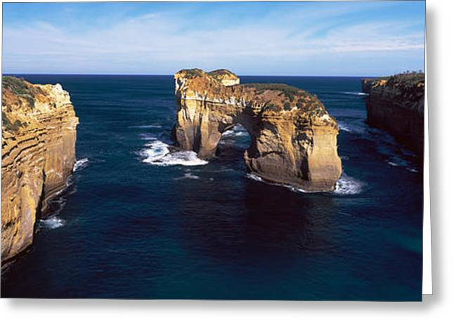Ocean Images Greeting Cards - Rock Formations In The Ocean, Campbell Greeting Card by Panoramic Images