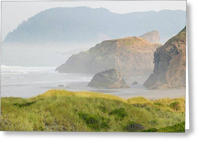 Rock Formations In The Ocean, Oregon Greeting Card by Panoramic Images