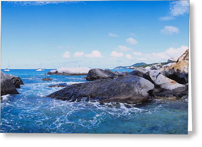 Virgin Gorda Greeting Cards - Rock Formations In The Sea, The Baths Greeting Card by Panoramic Images
