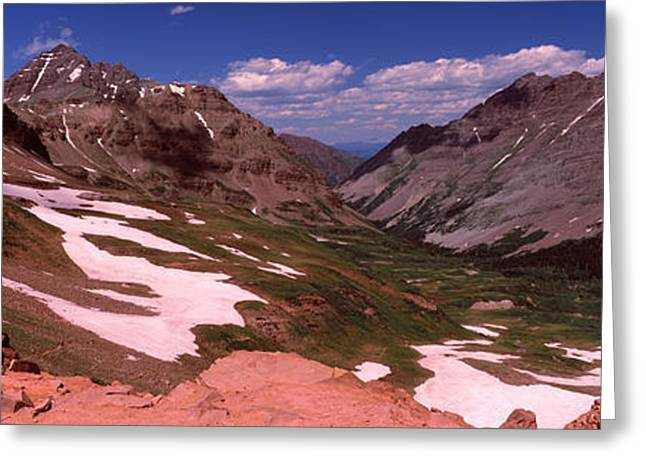 Days Pass Greeting Cards - Rock Formations, Maroon Bells, West Greeting Card by Panoramic Images