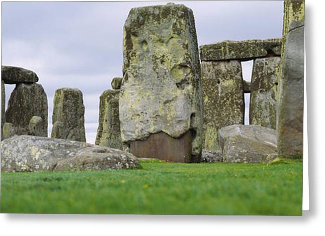 Civilization Greeting Cards - Rock Formations Of Stonehenge Greeting Card by Panoramic Images