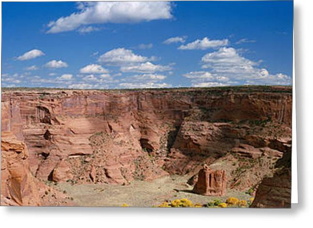 Clouds Over Canyon Greeting Cards - Rock Formations On A Landscape, South Greeting Card by Panoramic Images