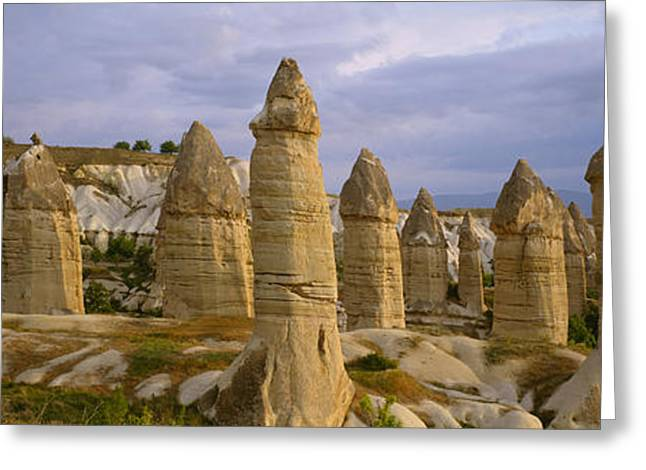 Phallus Greeting Cards - Rock Formations On A Volcanic Greeting Card by Panoramic Images