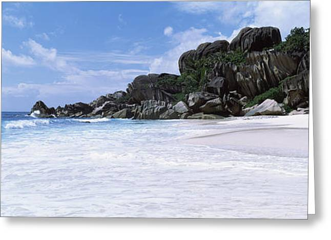 Tree In Rock Greeting Cards - Rock Formations On The Beach, Grand Greeting Card by Panoramic Images
