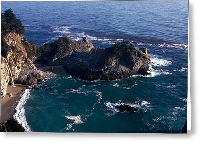 Big Sur California Photographs Greeting Cards - Rock Formations On The Beach, Mcway Greeting Card by Panoramic Images